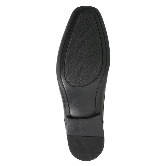 Čierne kožené poltopánky bata, čierna, 824-6600 - 19