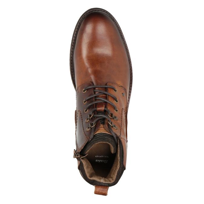 Kožená členková obuv bata, hnedá, 896-3675 - 15