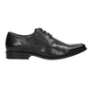 Čierne kožené poltopánky bata, čierna, 824-6600 - 15