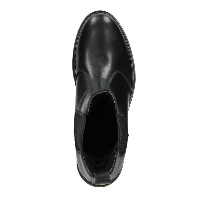 Kožená dámská Chelsea obuv bata, čierna, 594-6680 - 15