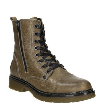 Kožená dámska členková obuv bata, hnedá, 596-7681 - 13
