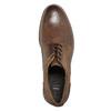 Kožené pánske poltopánky s prešitím bata, hnedá, 826-4610 - 26