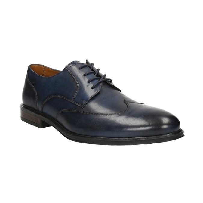 Modré kožené pánske poltopánky bata, modrá, 826-9914 - 13