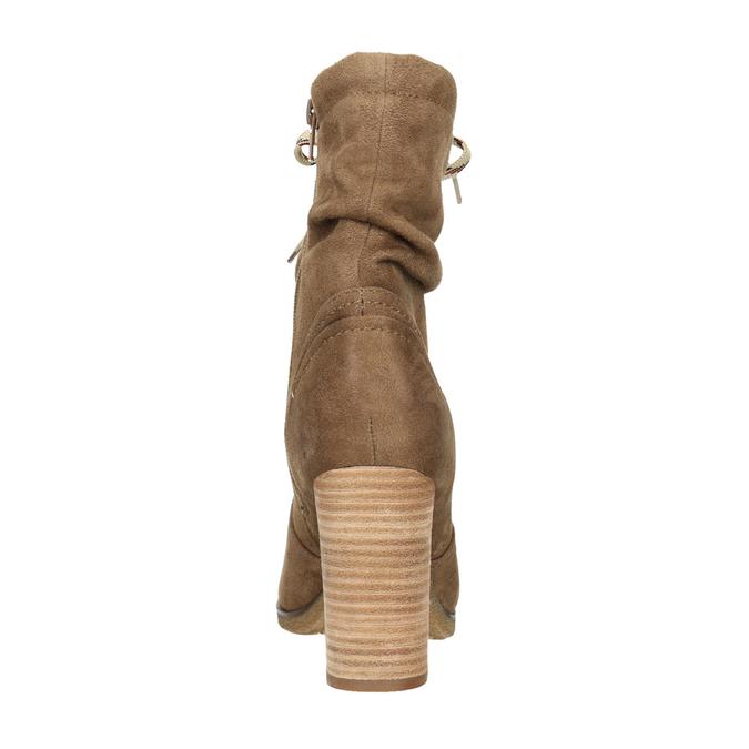 Hnedé čižmy na podpätku bata, hnedá, 799-3613 - 17