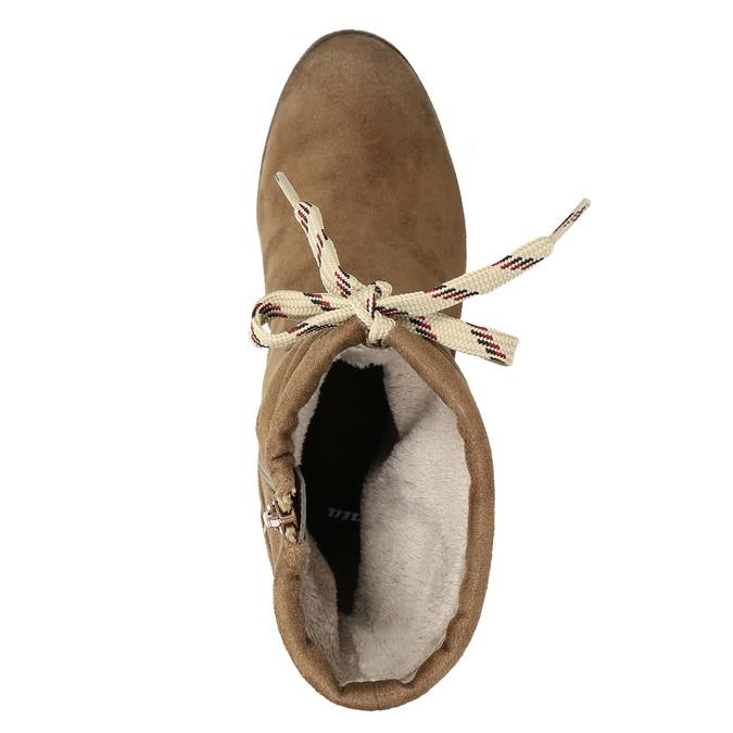 Hnedé čižmy na podpätku bata, hnedá, 799-3613 - 26