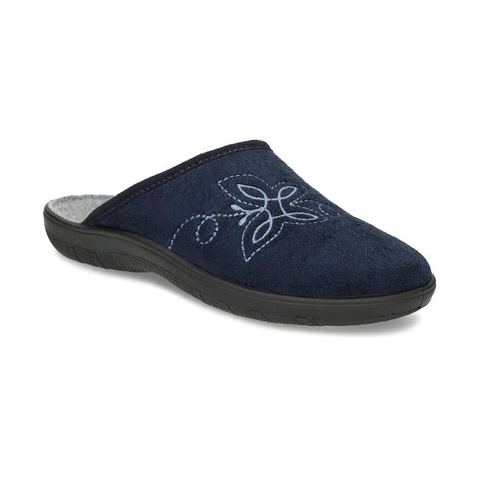 Dámska domáca obuv modrá bata, modrá, 579-9621 - 13
