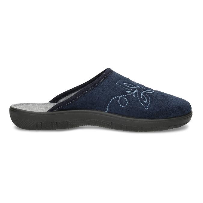 Dámska domáca obuv modrá bata, modrá, 579-9621 - 19