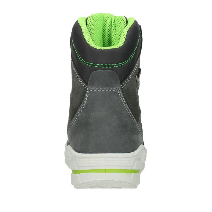 Kožené detské zimné topánky weinbrenner-junior, šedá, 493-2613 - 16