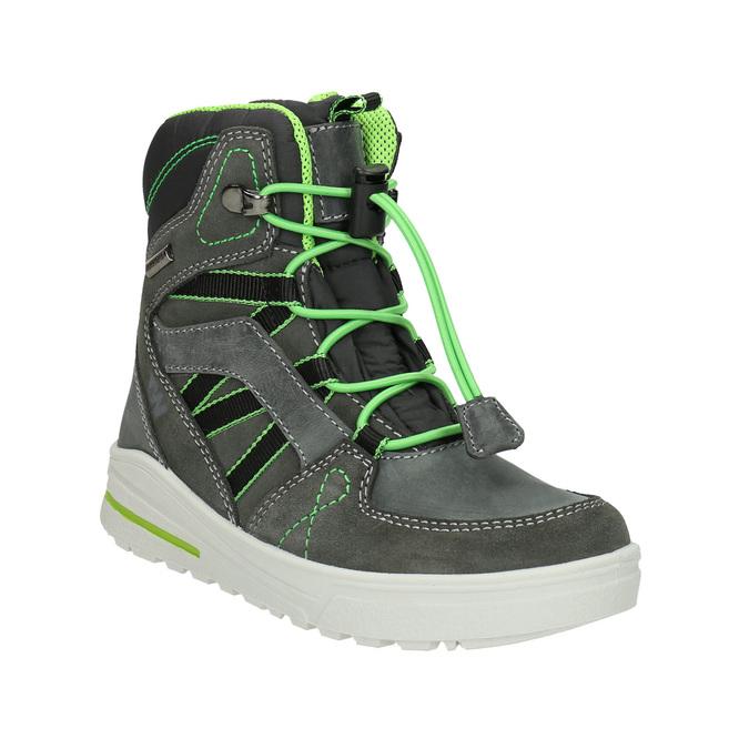 Kožené detské zimné topánky weinbrenner-junior, šedá, 493-2613 - 13