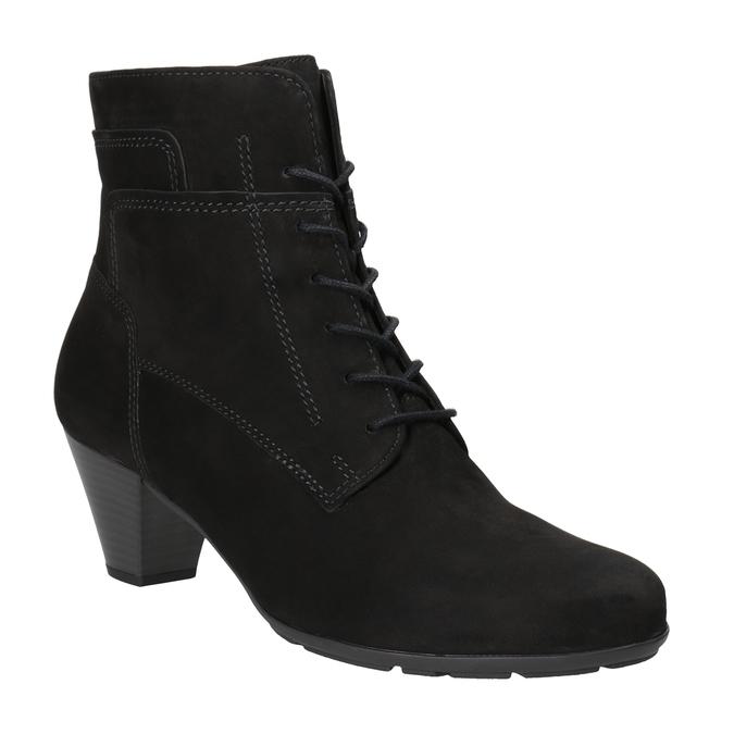 Kožená členková obuv šnurovacia gabor, čierna, 726-6120 - 13