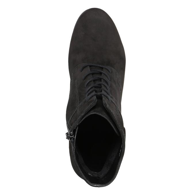 Kožená členková obuv šnurovacia gabor, čierna, 726-6120 - 15