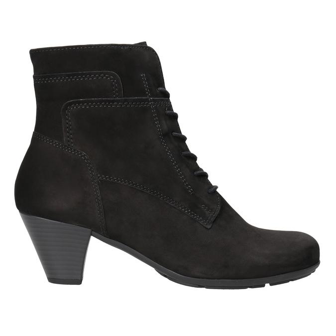 Kožená členková obuv šnurovacia gabor, čierna, 726-6120 - 26