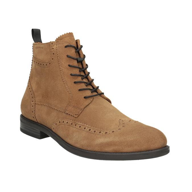 Kožená pánska členková obuv vagabond, hnedá, 823-3016 - 13