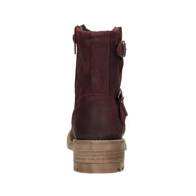 Kožené dievčenské čižmy bullboxer, červená, 493-5014 - 16
