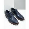 Ležérne  modré kožené poltopánky bata, modrá, 826-9681 - 18