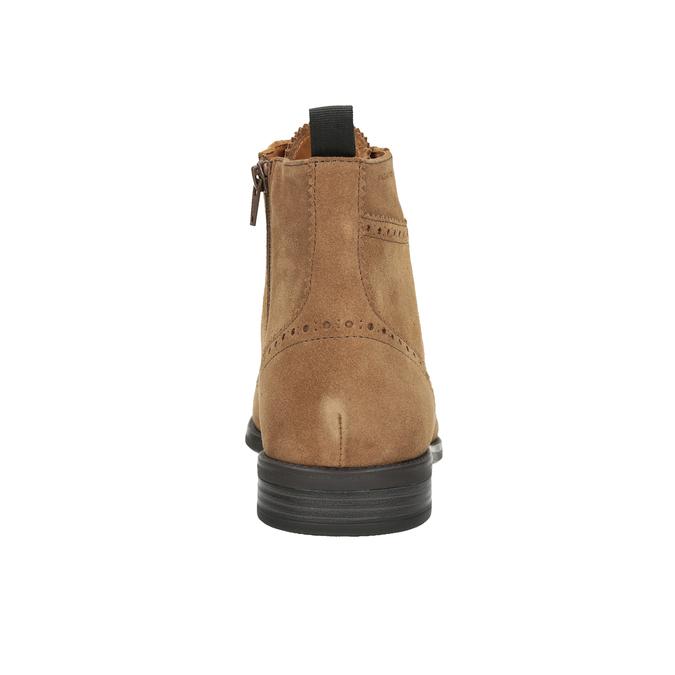Kožená pánska členková obuv vagabond, hnedá, 823-3016 - 16