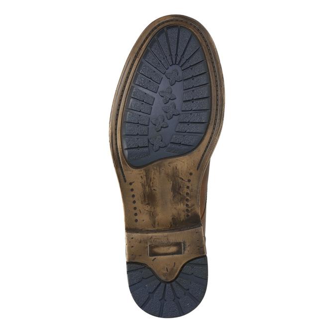 Hnedá kožená členková obuv bata, hnedá, 896-3684 - 19