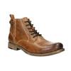 Hnedá kožená členková obuv bata, hnedá, 896-3684 - 13