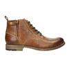 Hnedá kožená členková obuv bata, hnedá, 896-3684 - 15