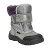 Dievčenská zimná obuv s kožúškom bubblegummers, šedá, 193-2601 - 13