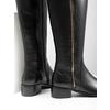 Kožené dámske čižmy so zipsom bata, čierna, 594-6653 - 14