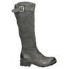 Kožené čižmy s masívnou podrážkou bata, šedá, 596-9662 - 26