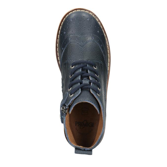 Detská členková obuv z kože primigi, modrá, 314-9004 - 15