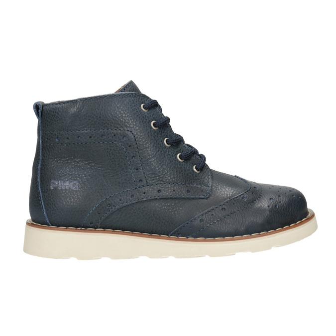 Detská členková obuv z kože primigi, modrá, 314-9004 - 26