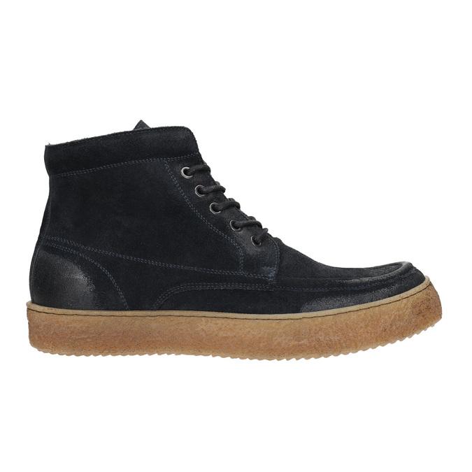 Pánska kožená členková obuv bata, modrá, 843-9631 - 15