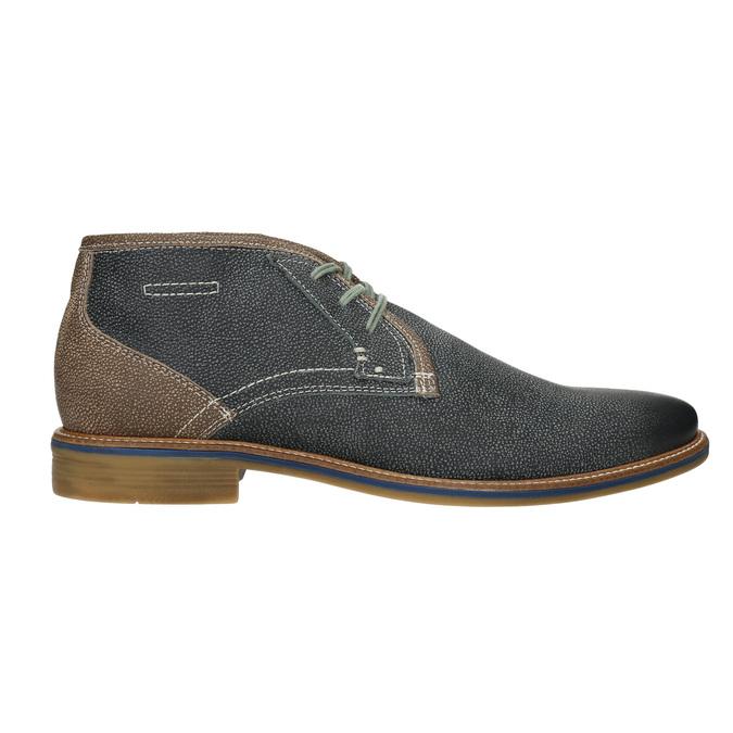 Pánska kožená členková obuv bata, modrá, 826-9920 - 26