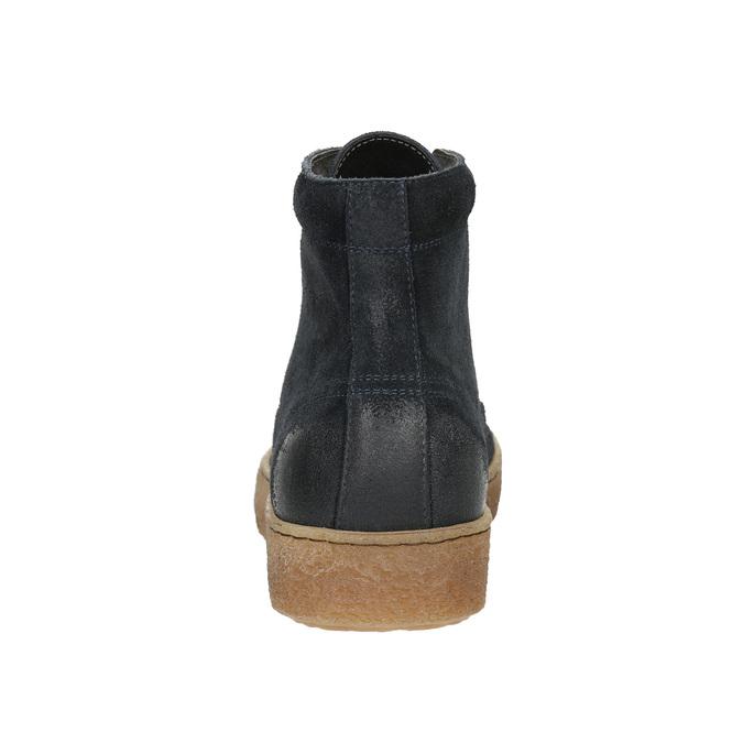 Pánska kožená členková obuv bata, modrá, 843-9631 - 17