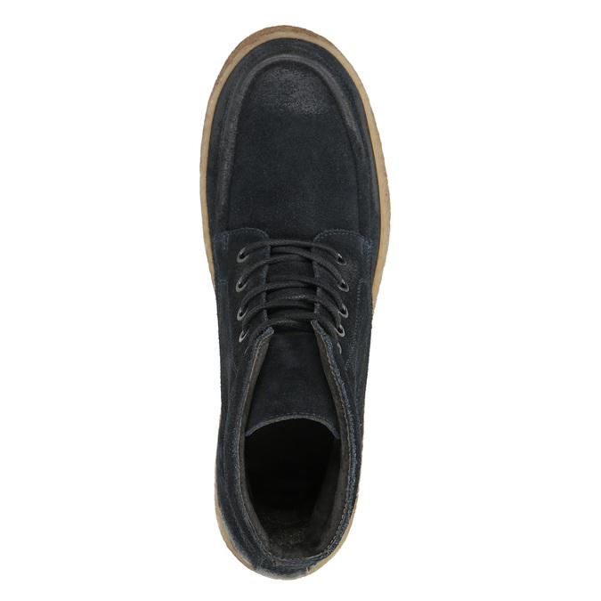 Pánska kožená členková obuv bata, modrá, 843-9631 - 26