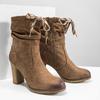 Hnedé čižmy na podpätku bata, hnedá, 799-3613 - 18