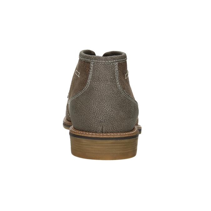 Pánska členková obuv s prešívaním bata, hnedá, 826-4920 - 16
