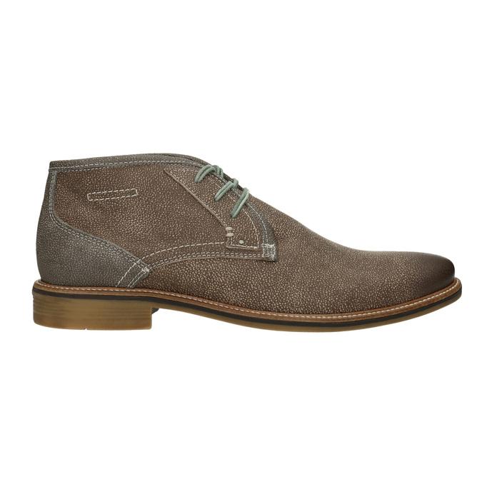 Pánska členková obuv s prešívaním bata, hnedá, 826-4920 - 26
