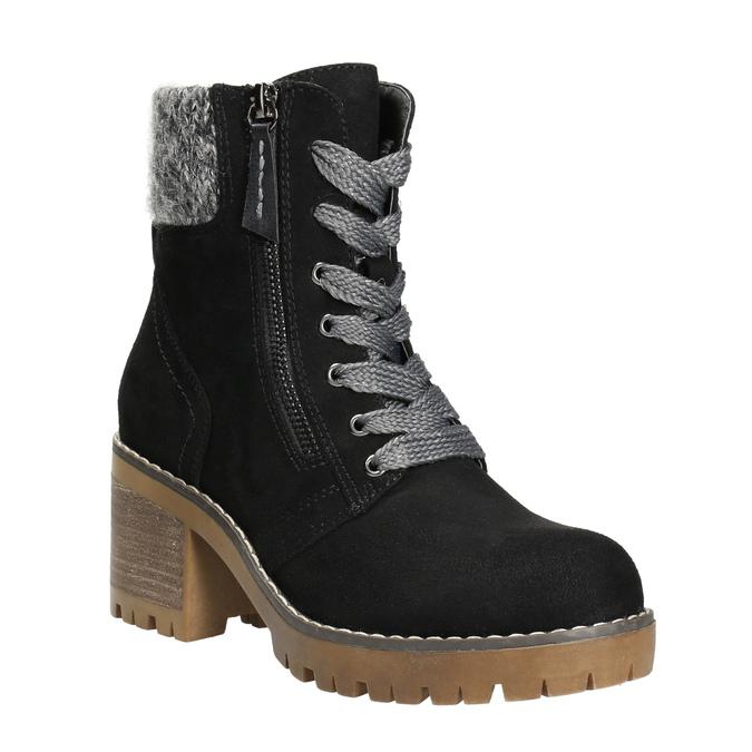 Členková obuv na masivnom podpätku bata, čierna, 699-6633 - 13