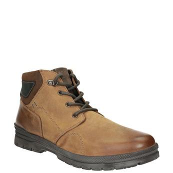 Pánska zimná kožená obuv bata, hnedá, 896-3681 - 13