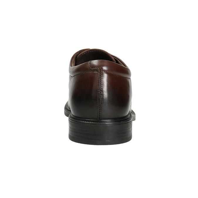 Kožené pánske poltopánky s prešívaním climatec, hnedá, 824-4986 - 16