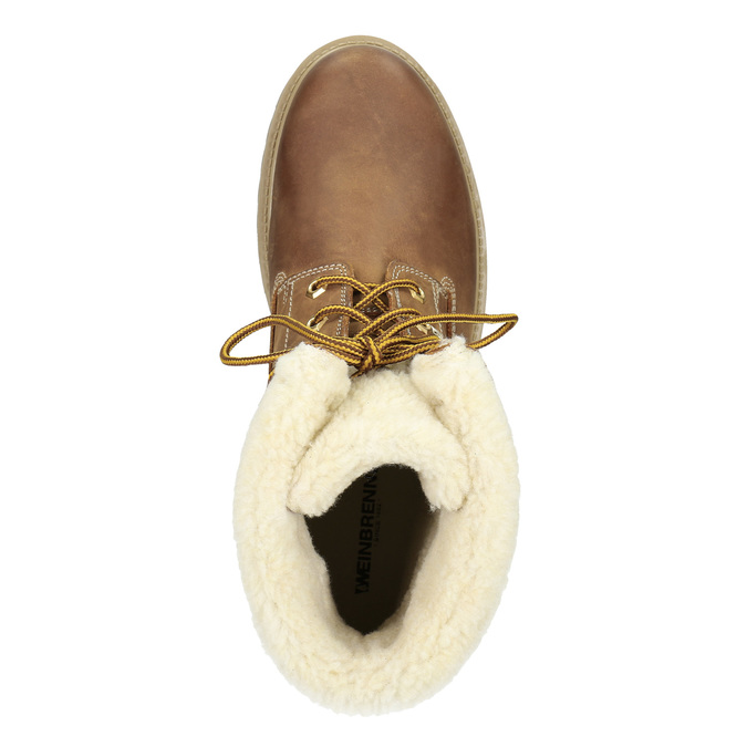 Pánska  členková obuv s kožúškom weinbrenner, hnedá, 896-4670 - 15