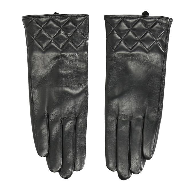 Dámske kožené rukavice čierne bata, čierna, 904-6131 - 26