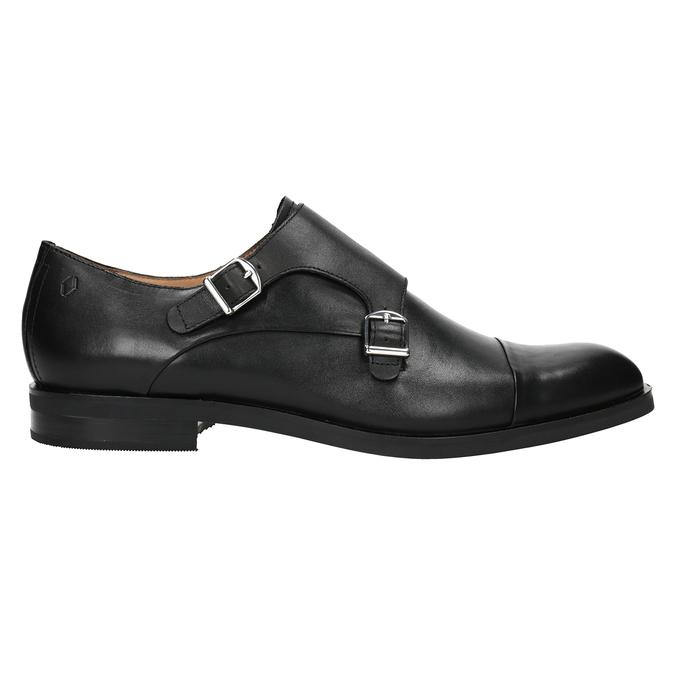Pánske kožené Monk Shoes vagabond, čierna, 814-6023 - 26