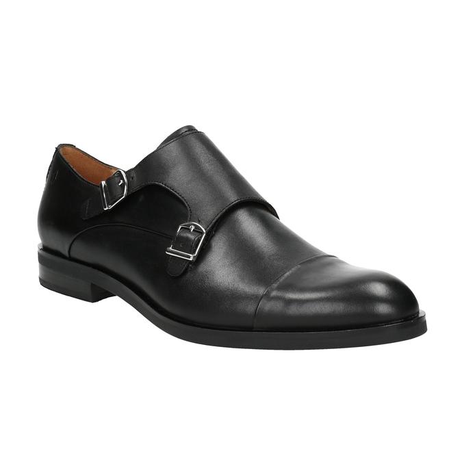 Pánske kožené Monk Shoes vagabond, čierna, 814-6023 - 13