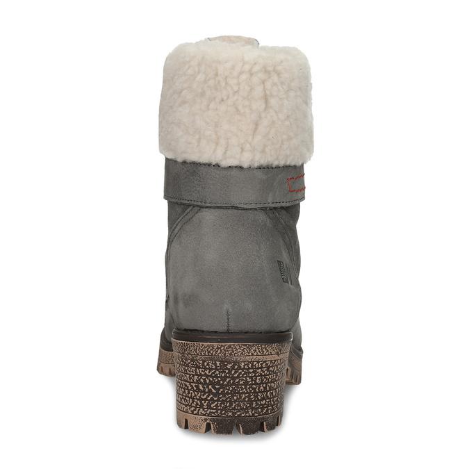 Dámske čižmy s kožúškom weinbrenner, šedá, 696-2168 - 15