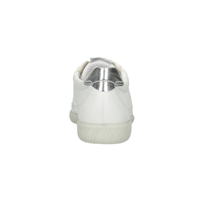Biele kožené tenisky gabor, biela, 626-1204 - 16