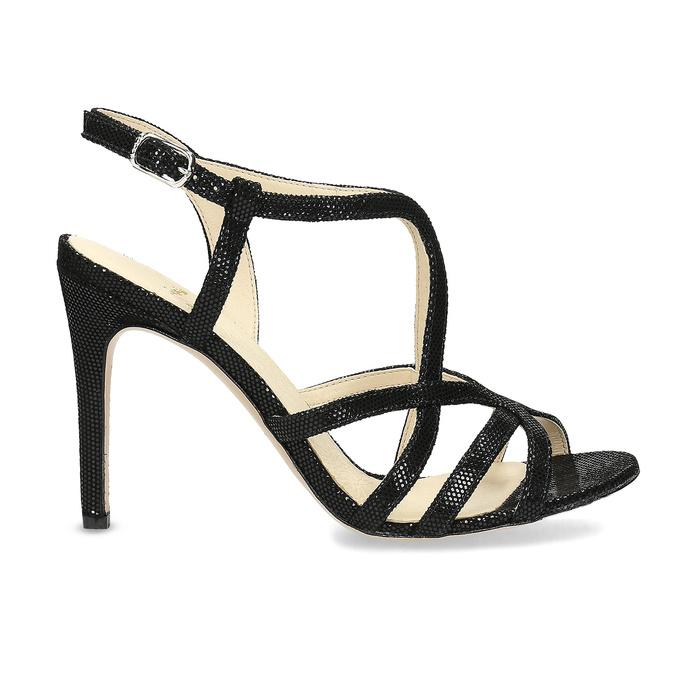 Dámske spoločenské sandále bata, čierna, 726-6648 - 19