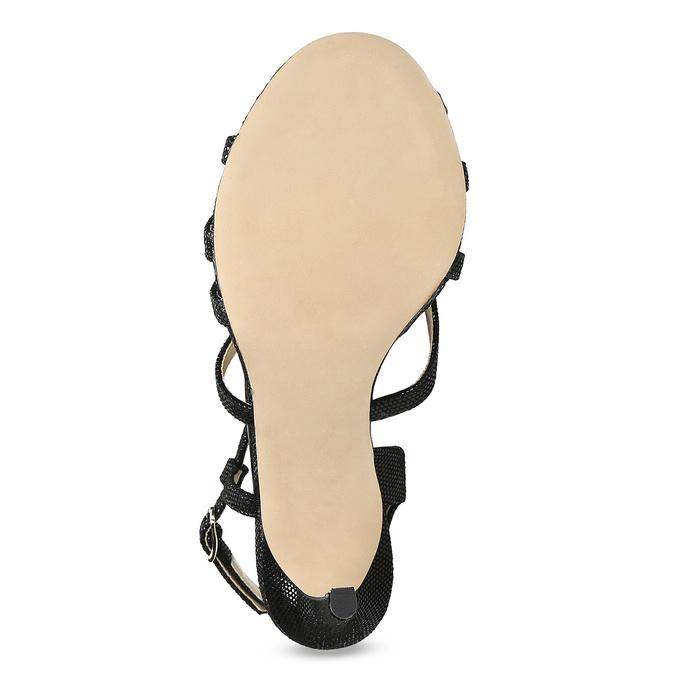 Dámske spoločenské sandále bata, čierna, 726-6648 - 18