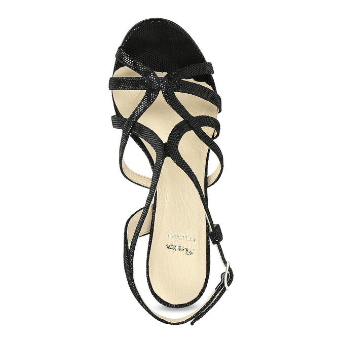 Dámske spoločenské sandále bata, čierna, 726-6648 - 17