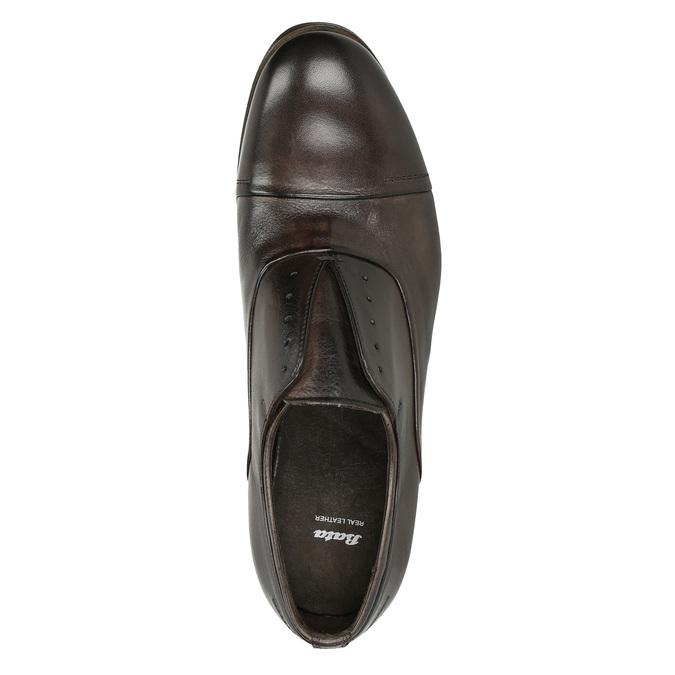 Celokožené Oxford poltopánky bata, hnedá, 826-4826 - 17