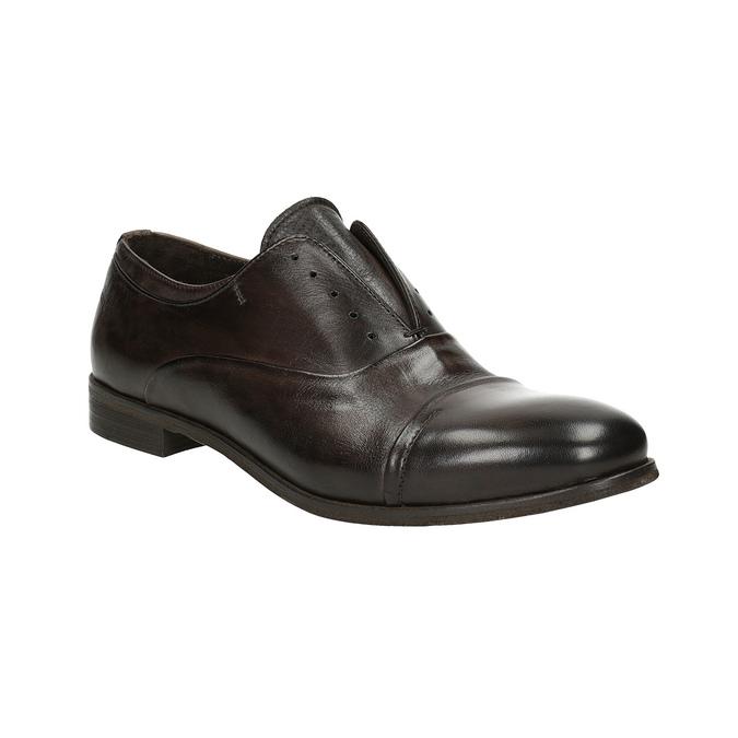 Celokožené Oxford poltopánky bata, hnedá, 826-4826 - 13