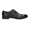 Čierne kožené Monk Shoes bata, čierna, 824-6730 - 16